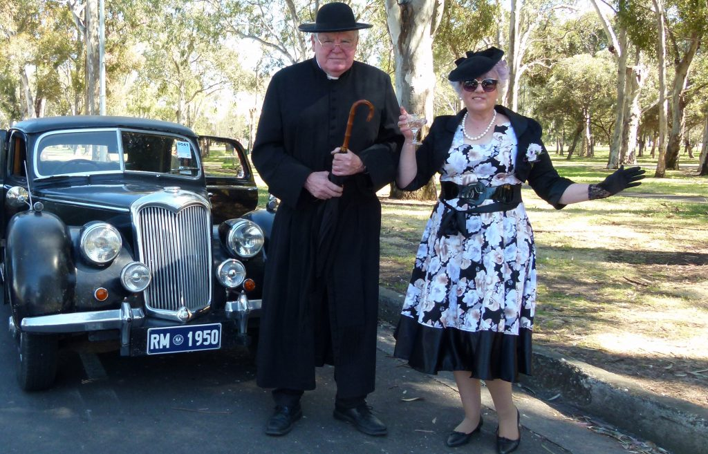 Father Brown and Mrs McCarthy at the Bay to Birdwood